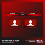 Red Break Twitch Stream Design Overlay