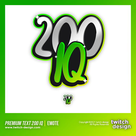 "Twitch Sub Emote ""200 IQ"""