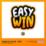 "Twitch Sub Emote ""EASY WIN"""
