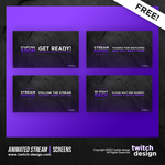 Free Animated Stream Twitch Screens
