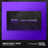 Animated Stream Twitch Screens Be Right Back