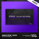 Free Animated Offline Twitch Stream Screens