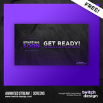 Free Animated Starting Twitch Stream Screens