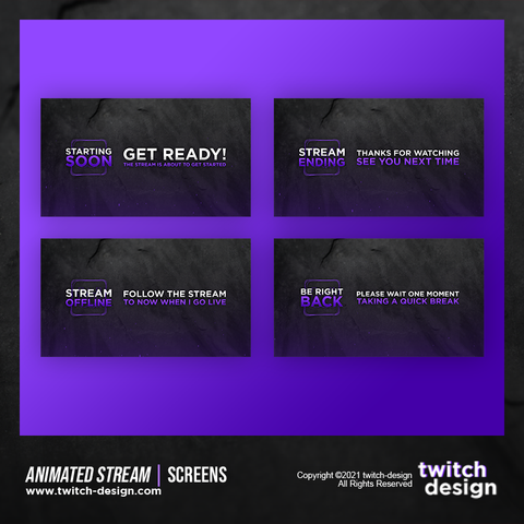 Animated Stream Twitch Screens