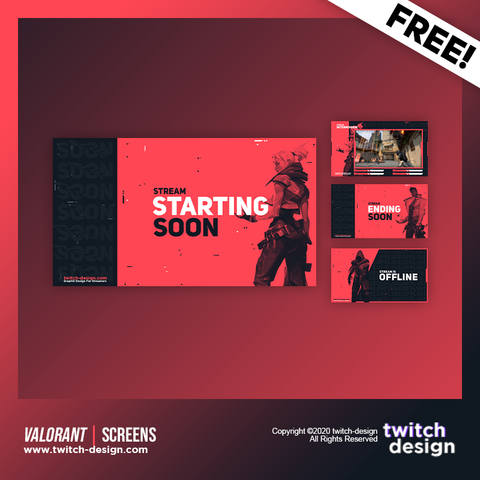 Free Valorant Twitch Screens