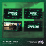 Static Green Warzone Twitch Screens