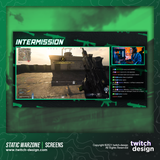 Static Green Warzone Intermission Twitch Screens