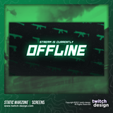 Static Green Warzone Offline Twitch Screens