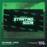Static Green Warzone Starting Soon Twitch Screens