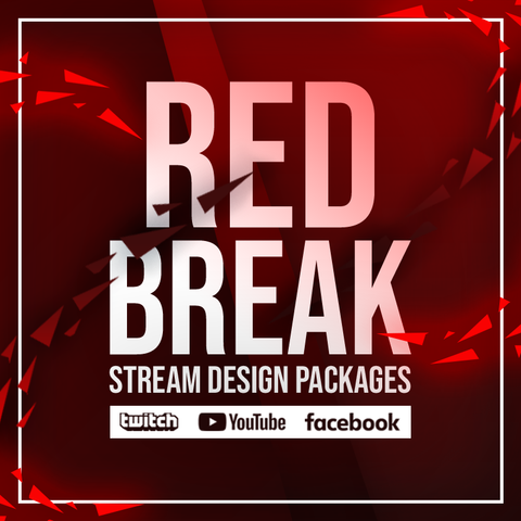 Red Break Twitch Stream Design Bundle