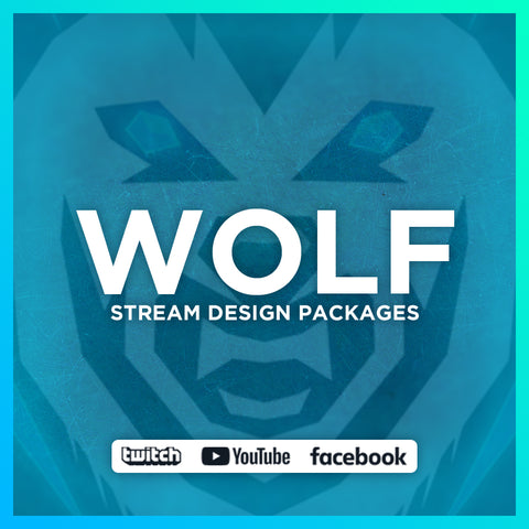 Wolf Twitch Stream Design Bundle