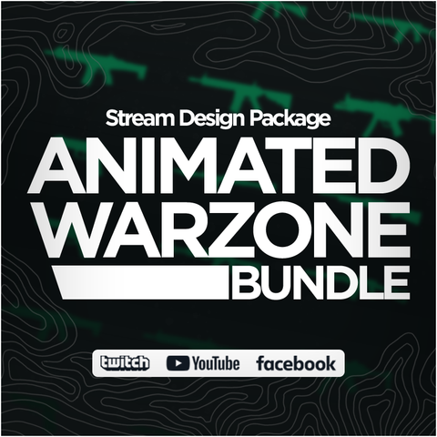 Animated  Call of Duty Warzone Twitch Bundle Stream Design Package