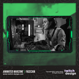 Animated Warzone Twitch Facecam Cyan Webcam Overlay