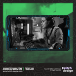 Animated Warzone Twitch Facecam Light Blue Webcam Overlay