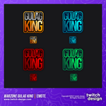 4-Pack Warzone Gulag King Twitch Emotes Bundle
