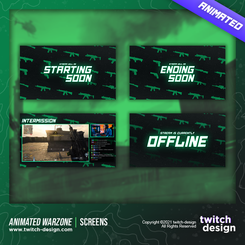 Animated Call of Duty Warzone Twitch Screens