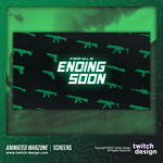 Animated Call of Duty Warzone Twitch Ending Soon Screen