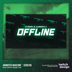 Animated Call of Duty Warzone Twitch Offline Screen