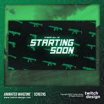 Animated Call of Duty Warzone Twitch Starting Soon Screen