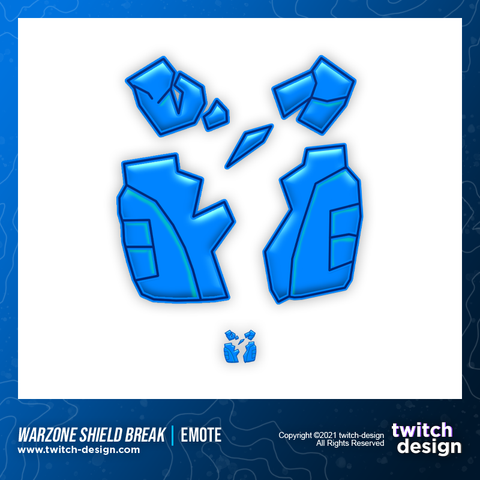 Call of Duty Warzone Shield Break Twitch Sub Emote