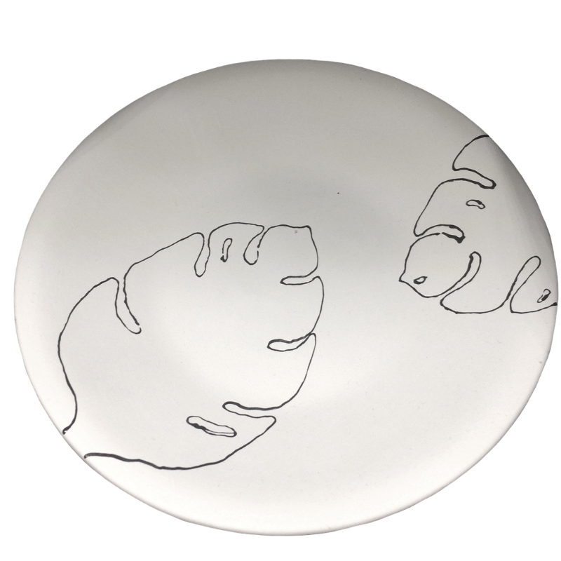 Just Add Colour - Monstera Leaf Plate - 10 inch coupe