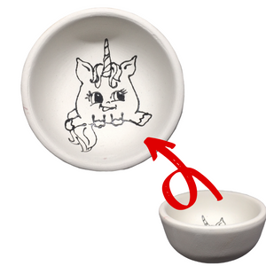 Just Add Colour - Chubby Unicorn - Small Bowl