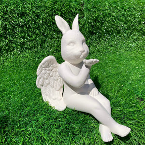 Bunny Head Cherub Shelf Sitter
