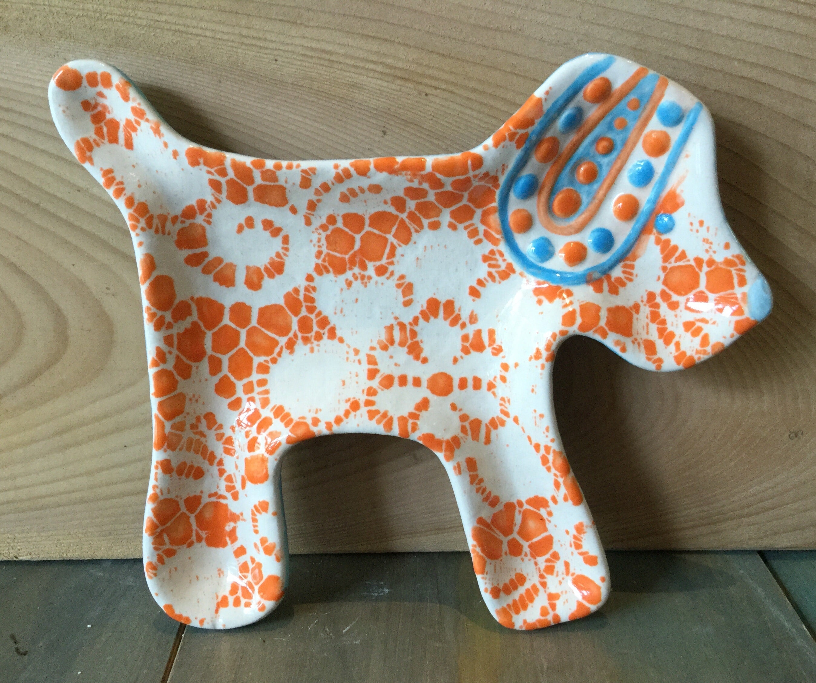 Dog Spoon Rest Plate
