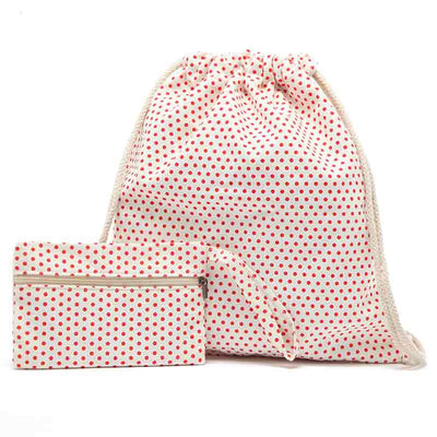Dotty Drawstring 2 In 1 Backpack NX35