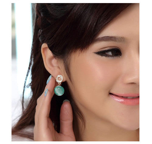 Jual Round Gem Anting| Supplier Reseller & Dropship