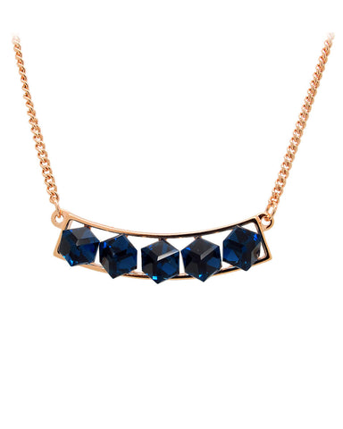 Kalung Oxford Blue Crystal Necklace