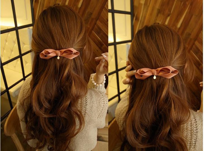 Jepitan Rambut Trendy Ribbon Korean Style Hairclip - 1