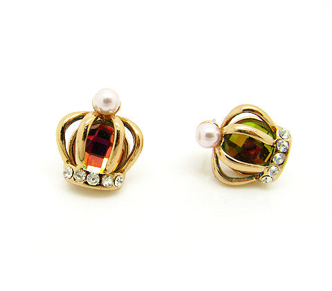 Anting Crown Jewel Luxurious Earrings