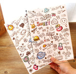 Sticker Lucu Emoticon Ekspresi Korea (Tema Random)