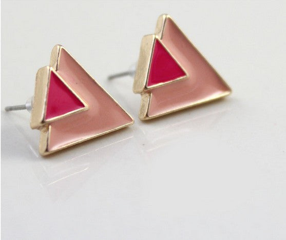 Jual B/w Triangular Urban Import Designer Earrings Anting| Supplier Reseller & Dropship