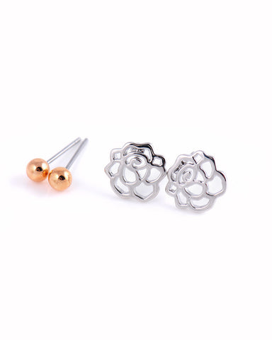 Anting Chic Earring Set (2 Pairs)