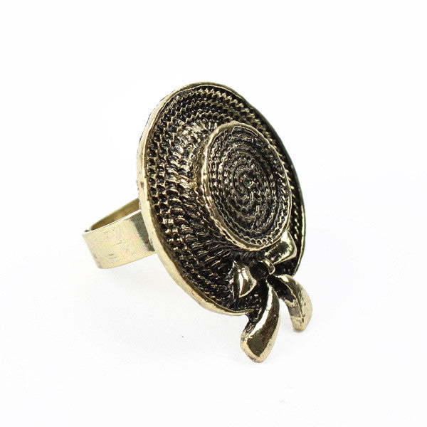 Cincin Vintage Hat Ring