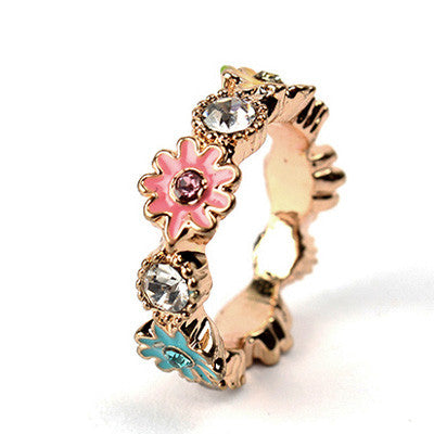Cincin Flower Fashion Golden Ring - 1