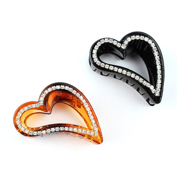 Jepit Rambut Korean Style Heart Hairclip - 1