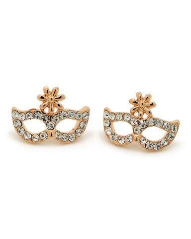 Anting 18K Plated Opera Mask Chic Earrings