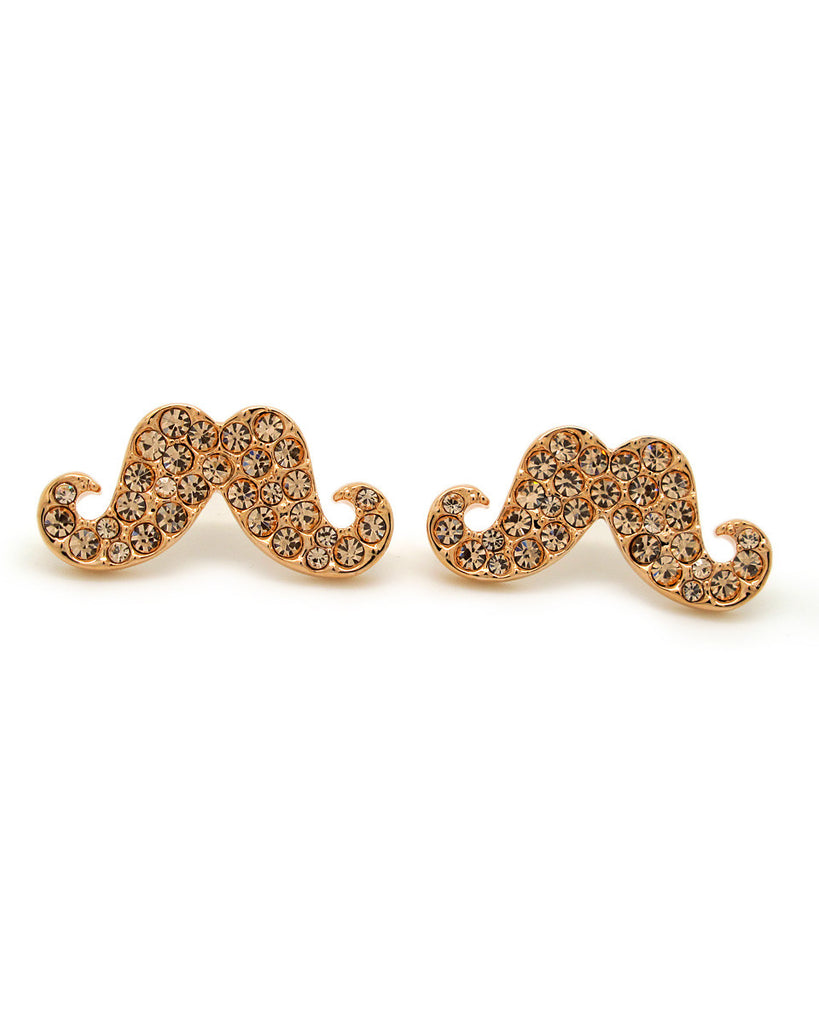 Anting Cute Moustache 18K Gold Plated Earrings
