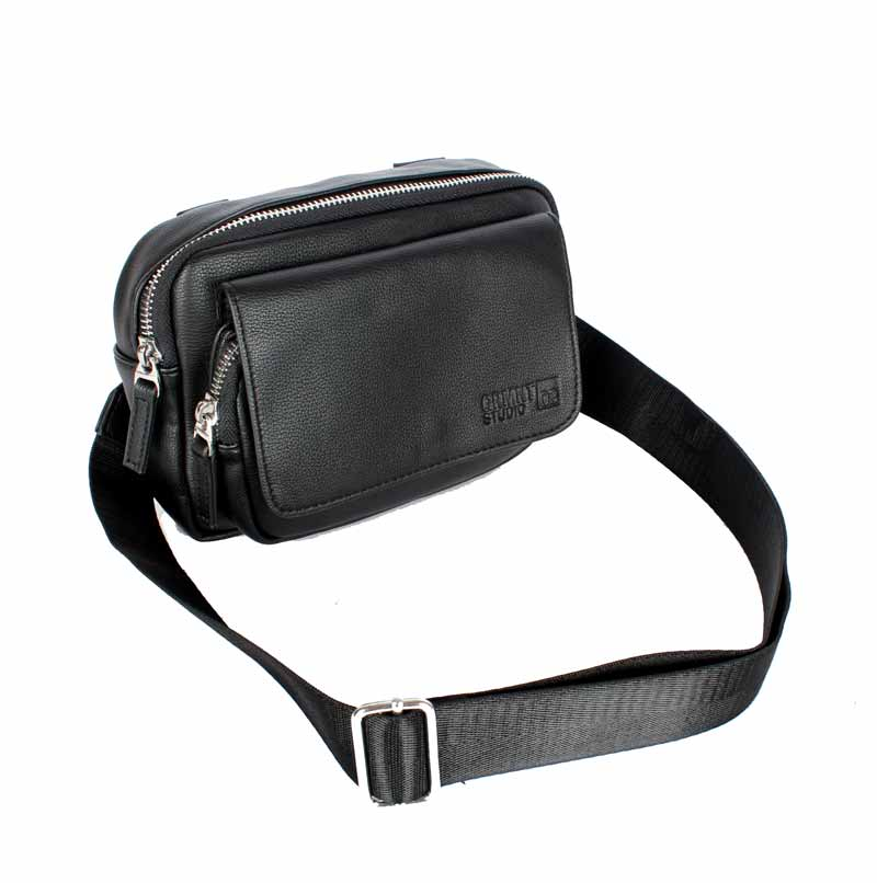 BERSHK4 Studio 2 Fungsi Tas Selempang Waistbag Unisex PU Leather