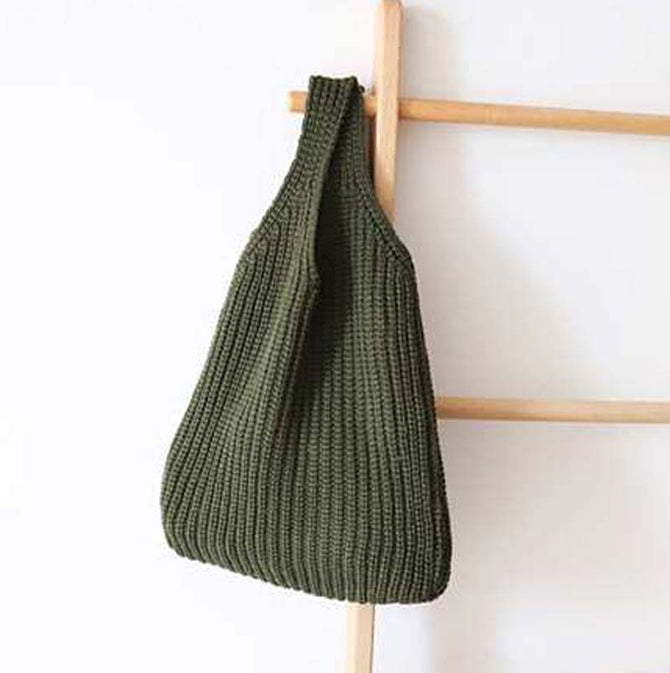 Casual Wool Shopper Bag - MZ09