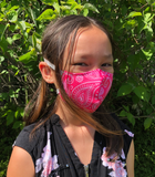 SMALL size CDN MADE - HEPA Filtered Face Masks - WASHABLE                                  (Order now for BACK TO SCHOOL)