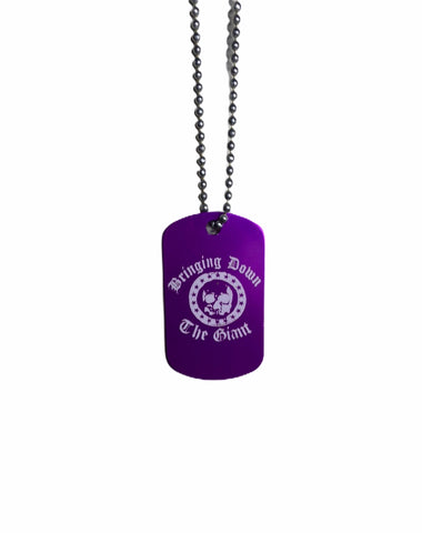 Bringing Down the Giant Purple Dog Tag