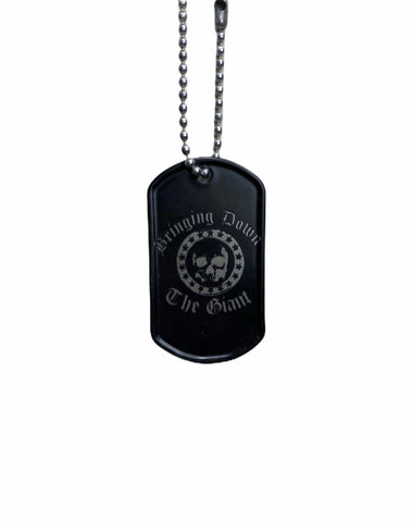 Bringing Down The Giant Black Dog Tag