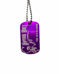 Sex is Good Purple Dog Tag