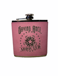 Addicted Pink Leather Flask