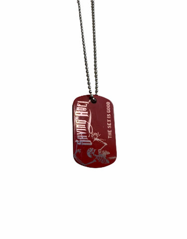 Sex is Good Red Dog Tag