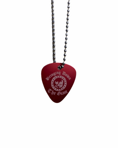 Bringing Down the Giant Guitar Pic Necklace